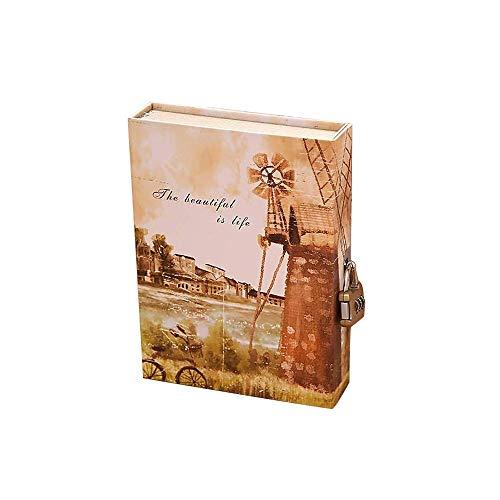 contraseña diario A5 cuaderno en caja de tapa dura Vintage secreto diario cuaderno papelería regalo