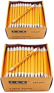 SKKSTATIONERY Half Pencils with Eraser Tops, Golf, Classroom, Pew – #2 HB, Hexagon,..