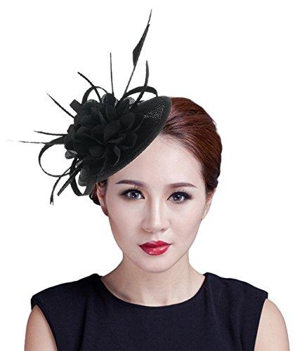 EOZY Mujer Tocado Pelo Boda Fiesta Sombrero Vintage