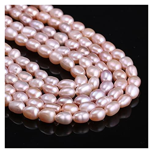 Perle coltivate d acqua dolce naturale, grani del miglio, perle naturali al 100%, utilizzate in gioielleria, fai da te collane creative, braccialetti e accessori ( Colore : 2 , Item Diameter : 7 8mm )