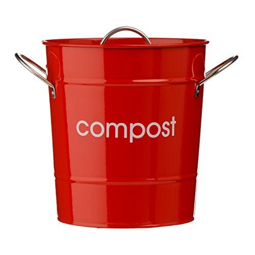 Sale!! Premier Housewares Compost Bin - Red