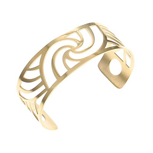 N/A Bracelet jewelry Bracelets &Bangles for Women Gold Color Hollow Stainless Steel Cuff Bangle Valentine's Day present