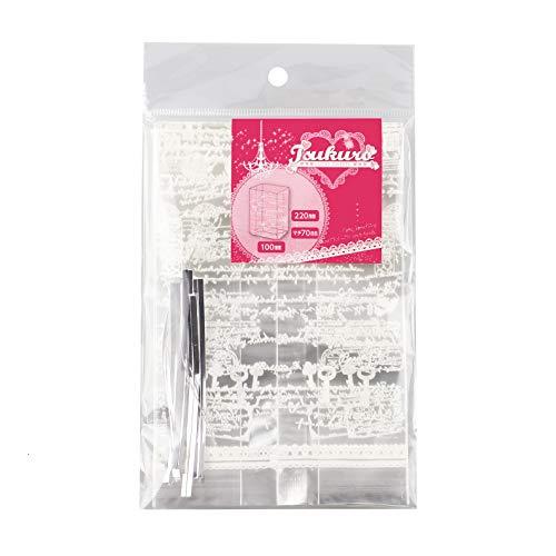 【Amazon.co.jp 限定】パール金属 お菓子袋 ラッピングセット ホワイト W100×D70×H220mm マフィン袋 22cm 英字 42枚セット W-18117