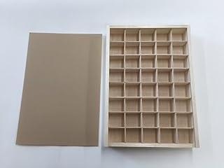 完成品 標本箱大 40マスセット 木製