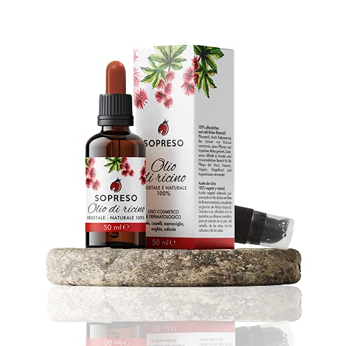 SOPRESO Olio di Ricino per la bellezza dei capelli, pelle, unghie, ciglia e barba. Uso esterno