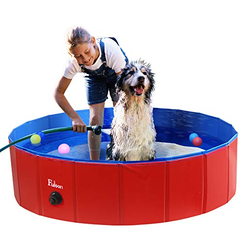 Fuloon PVC Pet Swimming Pool Portable Foldable...
