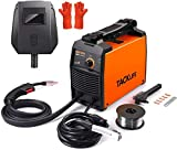 TACKLIFE MIG Welder 110/120 V, ETL Certified IGBT DC Inverter Welding Machine, Automatic Wire Feeding, 2 pound Flux cored wire, 5 x Contact Tips, Welding Helmet and Gloves, Portable Welder - EWT02A
