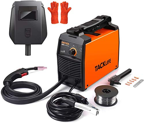 TACKLIFE MIG Welder 110/120 V, ETL Certified IGBT DC Inverter Welding Machine, Automatic Wire Feeding, 2 pound Flux cored wire, 5 x Contact Tips, Welding Helmet and Gloves, Portable Welder - EWT02A. Buy it now for 149.97