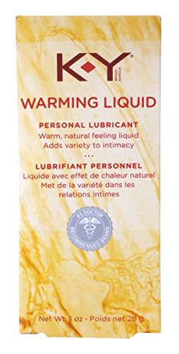 KY Warming Liquid Personal Lubricant Warm, Sex Lube Natural Feeling Liquid : Size 3 Ounces, (3 x 1 oz bottles)