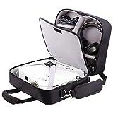 プロジェクターバッグ プロジェクターケース エプソン等メーカーに対応 大開口 まとめて収納 タブレットPC USBケーブル カメラ レンズ収納可 保護 キャリング 持ち運び