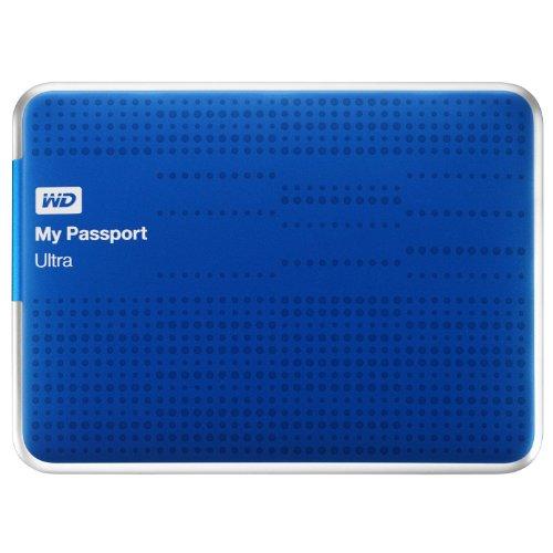 WD My Passport Ultra Mobile Disco Duro Externo 6,4cm, 2,5'USB 3.0con cifrado de Hardware, Contraseña Protección–recertified Azul Azul 1.000GB (1TB)