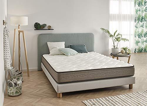 ECCOX - ColchónViscoelástico Luxury Bio Relax 140x190 Altura 21cm ±2 Firmeza Media-Alta con Visco Gel