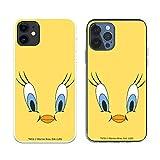 Funda para iPhone 12 - iPhone 12 Pro Oficial de Looney Tunes Piolín Fondo Amarillo para Proteger tu móvil. Carcasa para Apple de Silicona Flexible con Licencia Oficial de Warner Bros.
