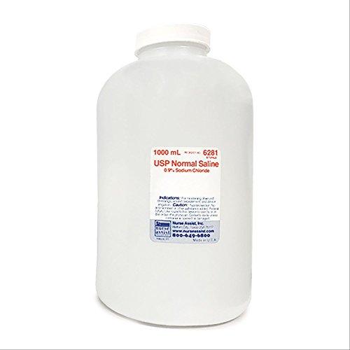 Sterile 0.9% Saline Solution - 1000mL