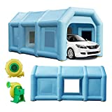 Inflatable Spray Booth - Car Paint Tent 26x13x10.8Ft with 2 Blowers, Portable Blow Up Paint Booth for Spray Paint Car Parking Booth Tent Upgraded Durable Garage with Air Filter System