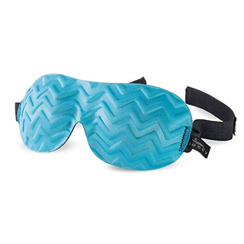 Bucky Ultralight Chevron Eye Mask, Blue Jade, 1 Count (Pack of 1)
