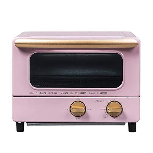 KELITE Mini Horno Hogar Multifuncional Escritorio Torta Pan Banking Machine 10L Capacidad 30 Minuto Temporizador Cocina Cocina 1000W (Color : Pink)