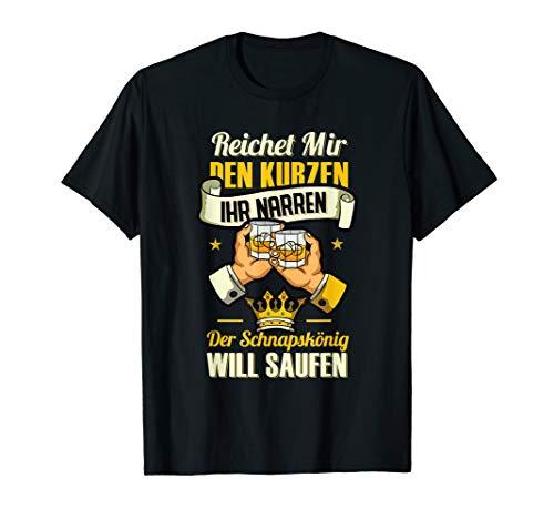 Schnapskönig Alki Schnaps Party Geschenk Für Alkoholiker T-Shirt