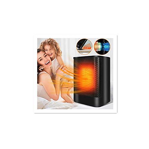 Calentador de aire 2 en 1 y ventilador de aire para casa y oficina, compacto y práctico, poco ruido, apagado 45 °