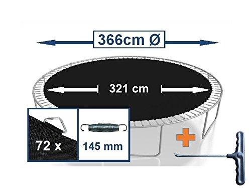 Sprungtuch Sprungmatte Ersatzteile für Trampolin Ø 366 cm 72 Ösen (Federn 14,5 cm)