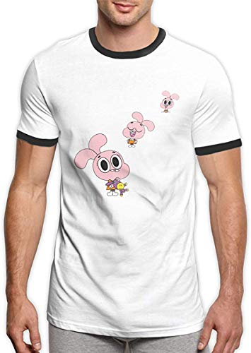 T-FASHION Anais The Amazing World of Gumball Camisetas Personalizadas de Moda Suave y Transpirable Divertida para Hombres