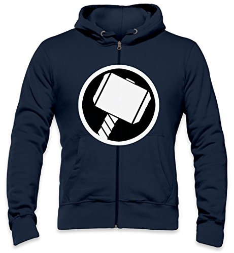 Thor\'s Hammer Mens Zipper Hoodie XX-Large