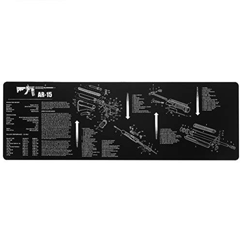 Akemaio Diagrama de Piezas Pistola de Limpieza de Goma Mat con Las Instrucciones de la Armería Banco Mat Cojín de ratón de la caz Tool Kit Pistola