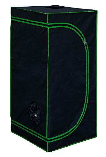 11 Tamaño Hidroponía Grow Tent Caja de Cultivo Interior Invernadero Tienda de cultivo Gabinete de cría Kingpower, Tamaño:60 x 60 x 180 cm (04)