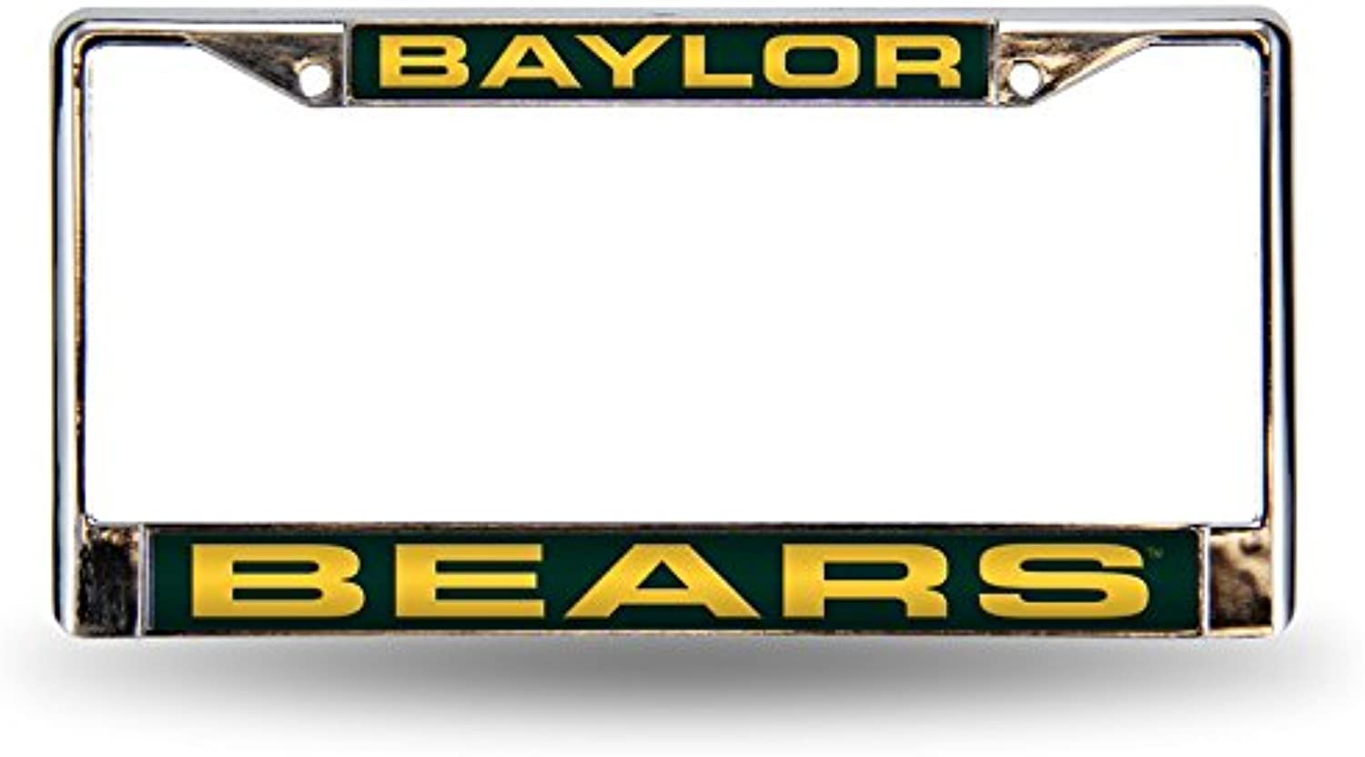 NCAA Baylor Bears Laser Cut Inlaid Standard Chrome License Plate Frame