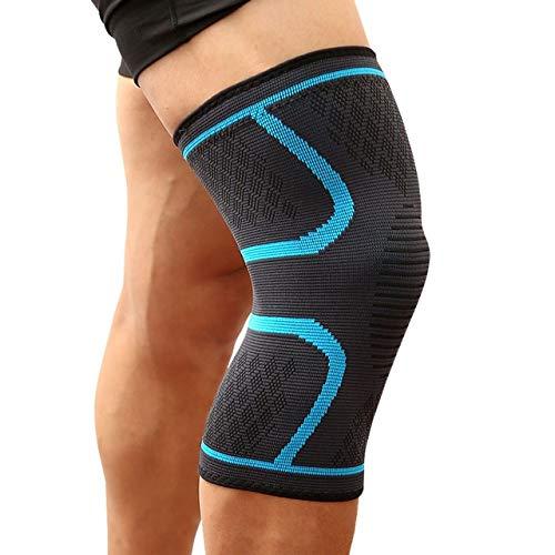 Fitness Correr Bicicleta Rodillera Rodillera Movimiento elástico compresión Rodilleras Baloncesto Voleibol Rodilleras - Azul, S