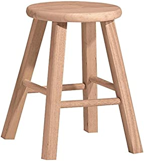 International Concepts 18-Inch Round Top Stool, Unfinished