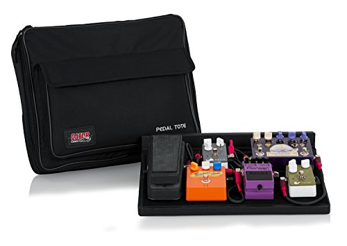 Gator Cases Guitar Effects Pedal Board with Tote Bag, Velcro Surface, and G-BUS Multi-Output Power Supply; Standard Size: 16.5' x 12' (GPT-BL-PWR)