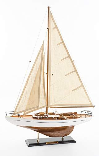 SAILINGSTORY Wooden Sailboat Decor, Sailboat Model Ship Decoration Concordia