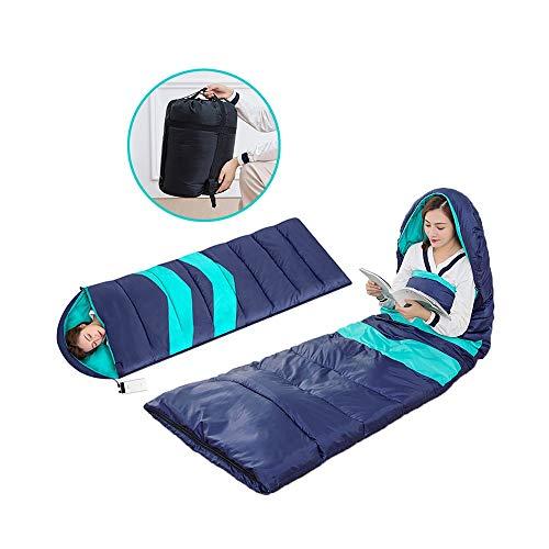 WSDJJ Beheizter Mumienschlafsack,3-4 Jahreszeiten Camping Schlafsack Erwachsene für drinnen und draußen, um den idealen Schlafsack warm zu halten