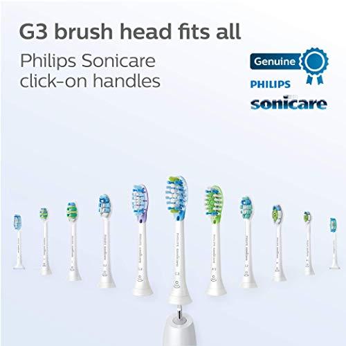 Genuine Philips Sonicare G3 Premium Gum Care toothbrush head, HX9052/65, 2-pk, white