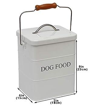 Geyecete C709 Boîte de Conservation pour friandises et Aliments pour Chien avec Couvercle et cuillère