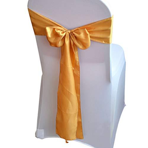 VOSAREA 10 -teiliger Stoff Satin Beautif Chair Dekorativ Satin Sashes Bow für Bankettdekoration Küche Dekoration