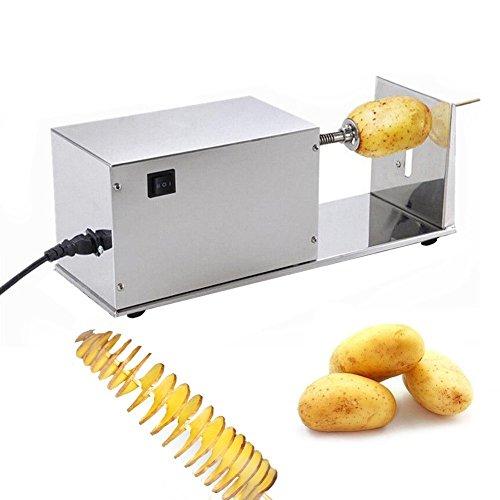 Ultraselect Spirale de trancheuse de pommes de terre 3mm Machine à découper des pommes de terre 90 r/min Coupe-trancheuse de pommes de terre (Trancheuse de tornade)