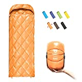 ECOOPRO Down Sleeping Bag, 41 Degree F 600 Fill Power Cold Weather Sleeping Bag - Ultralight Compact Portable Waterproof Camping Sleeping Bag with Compression Sack for Adults, Teen, Kids (A-Blue)