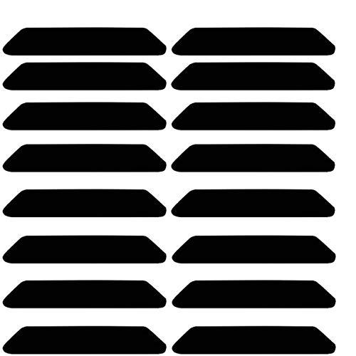 BESTZY Antirutschmatte für Teppich 16 Stück Antirutschmatte für Teppich Zum Kleben Anti-Curling Anti-Rutsch-Teppichstop wiederverwendbar Rutschschutz für Teppich