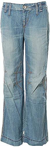 Killah Jeans Hose Boyfriend Style Baggy Pants W28 L32 Blue Flamy