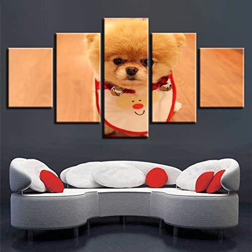 XITANG 5 Stuks Canvas Schilderen Moderne Hd Prints Huisdecoratie Dier Tijger Muur Kunst Hond Modulaire Afbeeldingen Paard Kunstwerk Poster