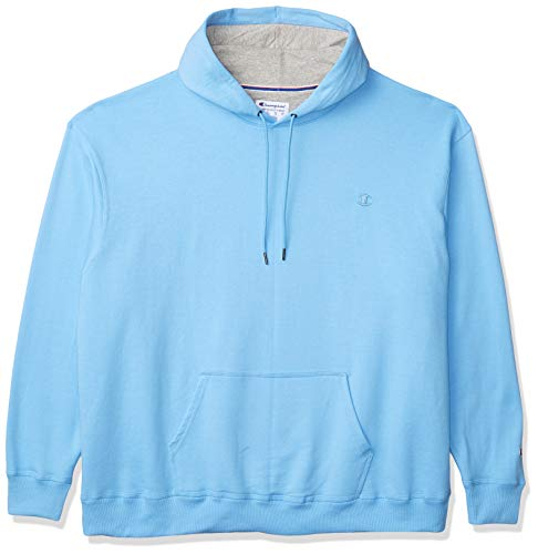 Champion Men's Powerblend Pullover Hoodie, Swiss Blue, Small