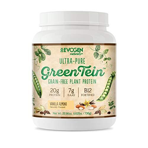 Evogen GreenTein, Grain-Free Plant Protein, Vanilla Almond, 690g