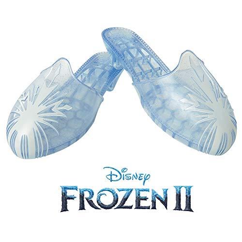 Glop Games Zapatos Frozen 2 Acto 2 Travel-Elsa-inspirados en la película Disney, siéntete como una Princesa, Color Azul con Glitter y Copo de Nieve Blanco (Jakks Pacific 20708)