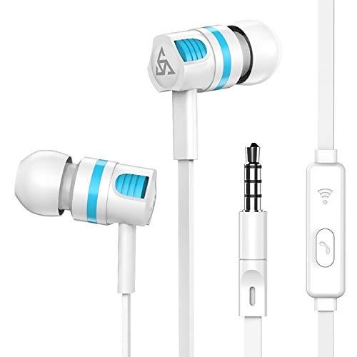 GANK QQY ACD bajo estupendo estéreo Auriculares con micrófono for Samsung/Xiaomi del teléfono móvil (Blanco Auriculares) (Color : White Earphone)