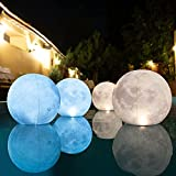 TIALLY Solar Floating Pool Lights - Pack of 4 Floating Pool Lights Solar Powered, Inflatable, Waterproof and Wind Resistant, 14 inch Pool Lights That Float, Party Decor for Outdoor, Easy to Hang