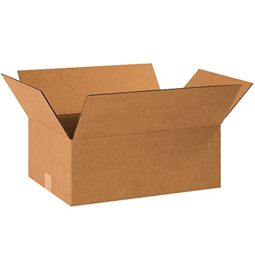 "BOX USA B18127R Corrugated Boxes, 18""L x 12""W x 7""H, Kraft (Pack of 25)"