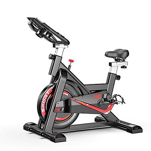 Bicicleta de Spinning Giro de la bici del asiento ajustable Infinito Resistencia de transmisión del cinturón for el entrenamiento cardio fitness en casa y el estudio Negro Blanco Bicicleta Estacionari