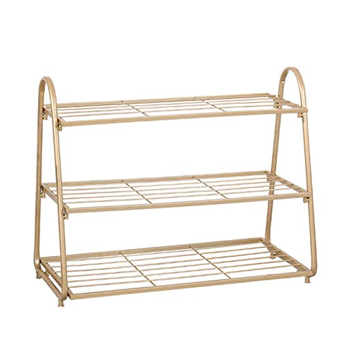 El almacenamiento en zapatero es simple y práctico Rack de zapatos 3 capas Simple Shoe Hack grueso Zapato de metal Rack Multi-Function Home Storage Rack Space Saving Shoe Shelf Zapatillas de almacenam